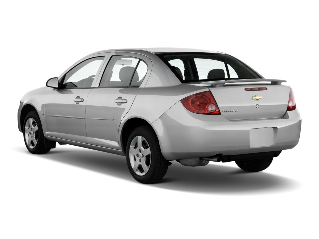 Angular Rear Exterior View - 2010 Chevrolet Cobalt 4-door Sedan LT w/1LT