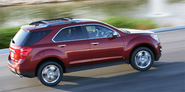 The base 2010 Chevrolet Equinox is both cheaper and more fuel-efficient than the outgoing 2009 model