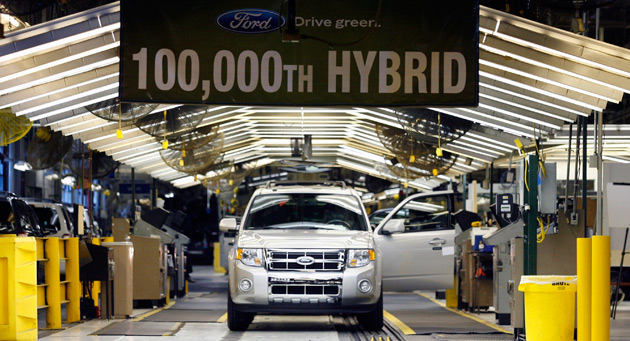 The Ford Escape Hybrid is manufactured alongside its Mercury Mariner Hybrid sibling at Ford's Kansas City plant