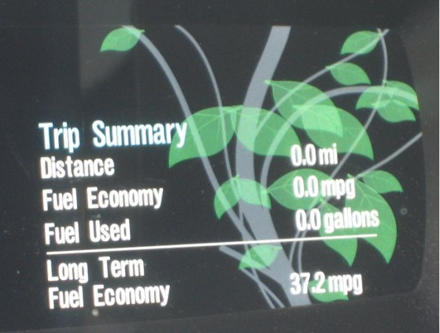 2010 Ford Fusion Hybrid, Catskill Mountains, NY - average 37.2 MPG