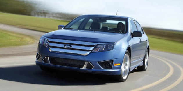 Ford's looking to boost economy with smaller engines. The Fusion will get an EcoBoost four by 2010.