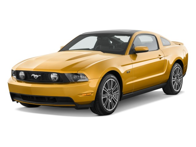 Angular Front Exterior View - 2010 Ford Mustang 2-door Coupe GT Premium