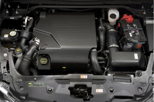 Like most engines these days, all you can really see of the EcoBoost 3.5-liter V6 is...a plastic cover.