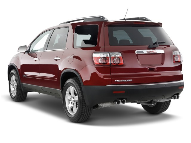 Angular Rear Exterior View - 2010 GMC Acadia FWD 4-door SLT1