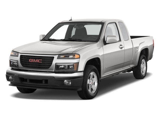 """2010 GMC Canyon 2WD Ext Cab 125.9"""" SLE1 Angular Front Exterior View"""