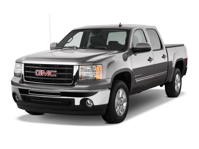 Angular Front Exterior View - 2010 GMC Sierra 1500 Hybrid 4WD Crew Cab 143.5