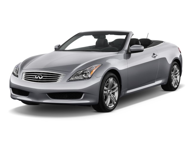 2010 Infiniti G37 Convertible 2-door Base Angular Front Exterior View