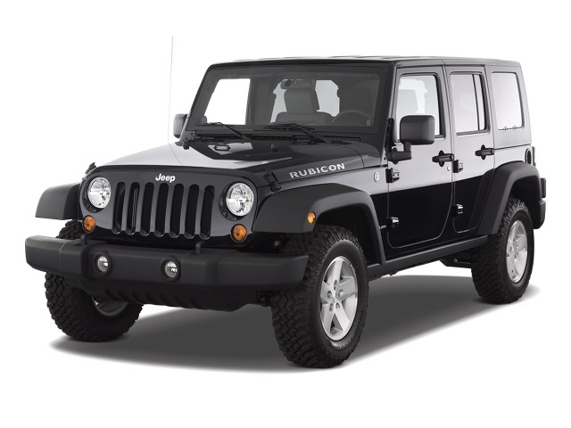 2010 Jeep Wrangler Unlimited 4WD 4-door Rubicon Angular Front Exterior View