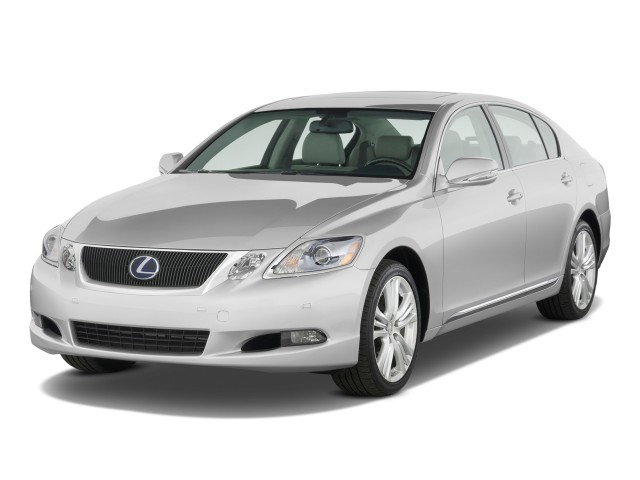 2010 Lexus GS 450h 4-door Sedan Hybrid Angular Front Exterior View