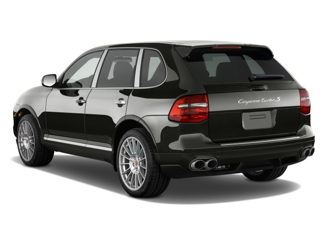 Angular Rear Exterior View - 2010 Porsche Cayenne AWD 4-door Turbo S