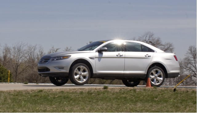 2010 Pre-Production SHO Taurus at Ford's Dearborn Proving Grounds driven by engineer Christina Rodriguez.