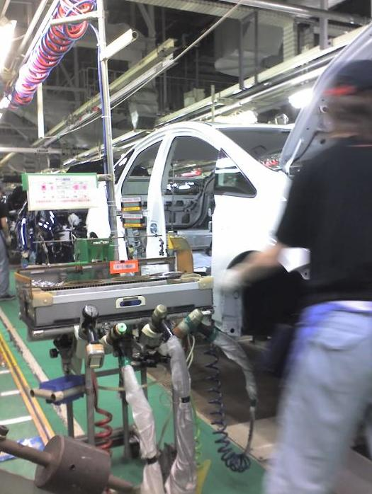 2010 Toyota Prius production line, Tsutsumi factory, courtesy of Just-Auto.com