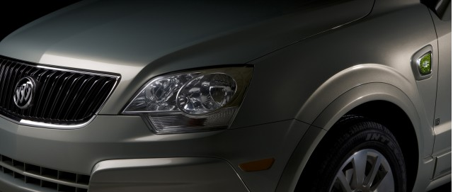 2009 teaser shot of Buick crossover plug-in hybrid, a rebadged Saturn Vue quickly dubbed the 'Vuick'