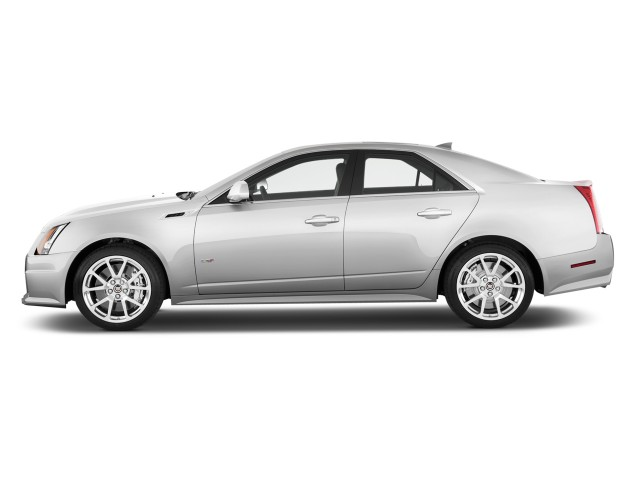 2011 Cadillac CTS-V Sedan 4-door Sedan Side Exterior View