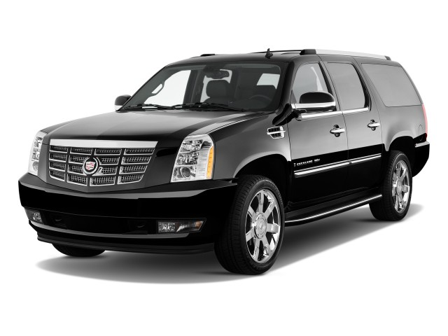 2011 Cadillac Escalade ESV AWD 4-door Base Angular Front Exterior View