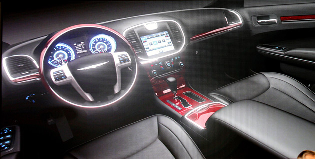 The image reveals a much more upmarket look for the interior of the 2011 Chrysler 300
