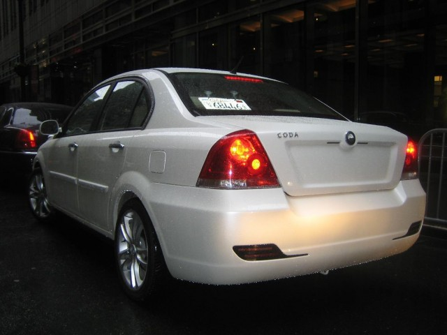 2011 Coda Sedan prototype - rear