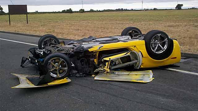 2011 Corvette Grand Sport destroyed in horrific DUI crash. Image: News10