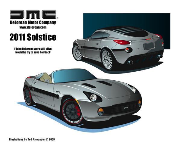 2011 DeLorean Solstice mockup