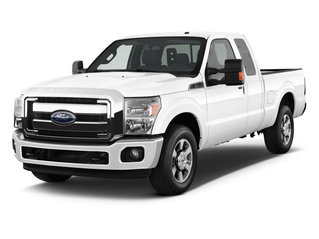 """2011 Ford Super Duty F-250 2WD SuperCab 142"""" Lariat Angular Front Exterior View"""