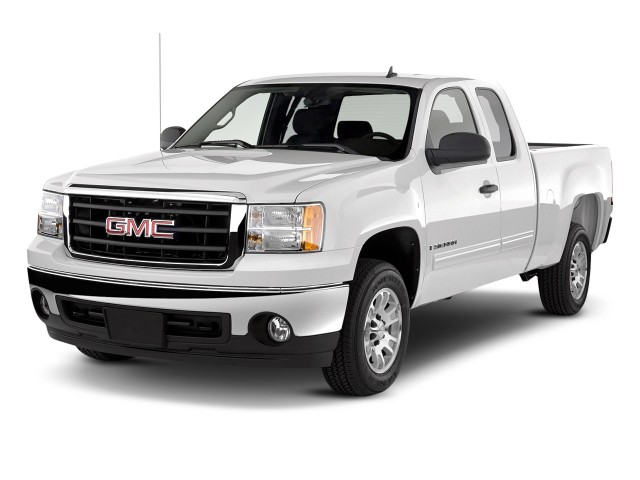 "2011 GMC Sierra 1500 2WD Ext Cab 143.5"" SLE Angular Front Exterior View"