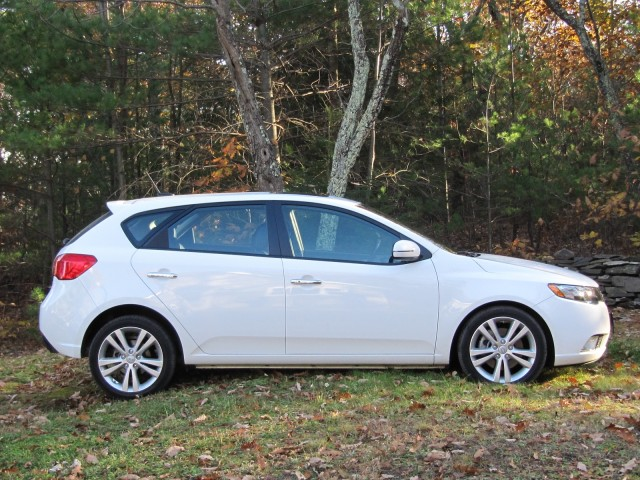 2011 Kia Forte hatchback, Catskill Mountains, Nov 2011