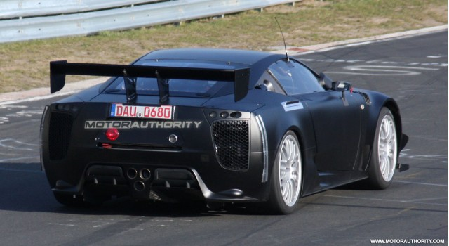 2011 lexus lfa spy shots april 006