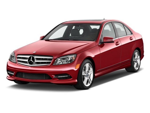 Angular Front Exterior View - 2011 Mercedes-Benz C Class 4-door Sedan 3.0L Sport RWD