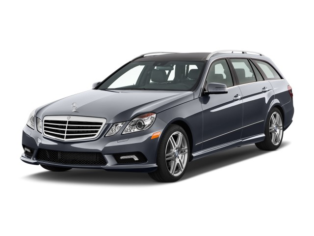 2011 Mercedes-Benz E Class 4-door Wagon Sport 3.5L 4MATIC Angular Front Exterior View