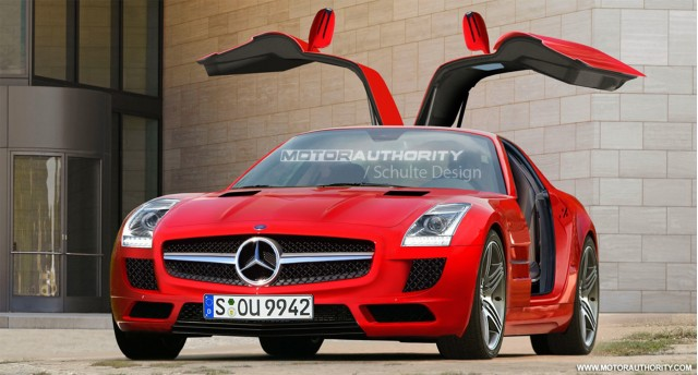 2011 mercedes benz sls preview rendering 001