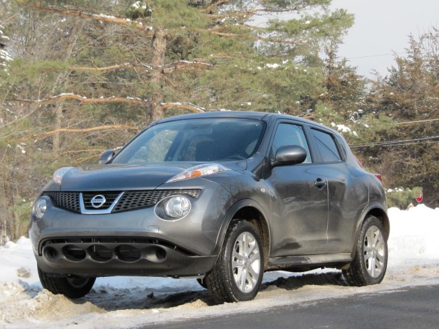 2011 Nissan Juke in New York's Catskill Mountains, January 2011