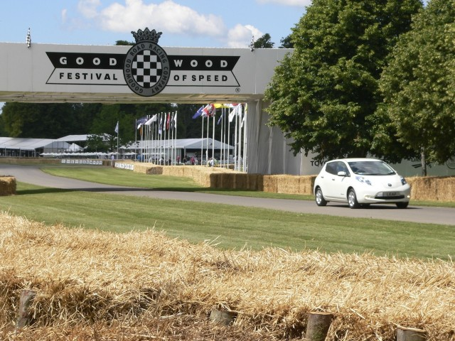 2011 Nissan Leaf at 2011 Goodwood Festival of Speed
