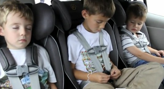 Screenshot from BusyMommyMedia's Childseat Test of the 2011 Nissan Leaf