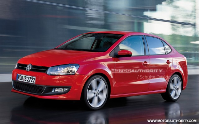 2011 Volkswagen Polo Sedan rendering