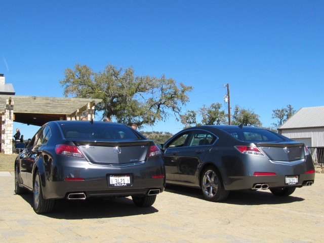 2012 Acura TL (left) alongside 2011 model (right)