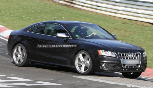 2012 Audi S5 facelift spy shots
