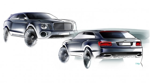 2012 Bentley EXP 9 F concept design sketches