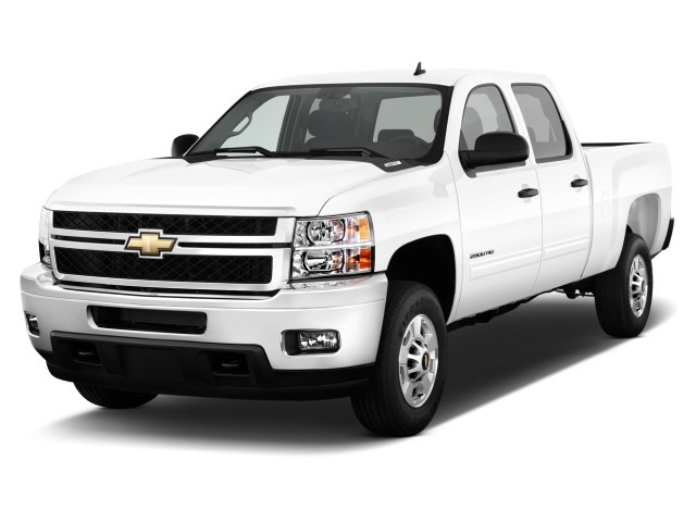 "2012 Chevrolet Silverado 2500HD 2WD Crew Cab 153.7"" Work Truck Angular Front Exterior View"