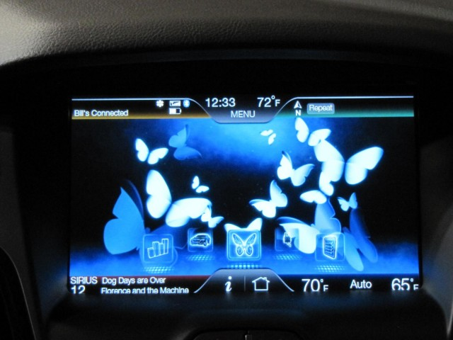 2012 Ford Focus Electric launch, New York City, January 2011 - butterflies on dash display
