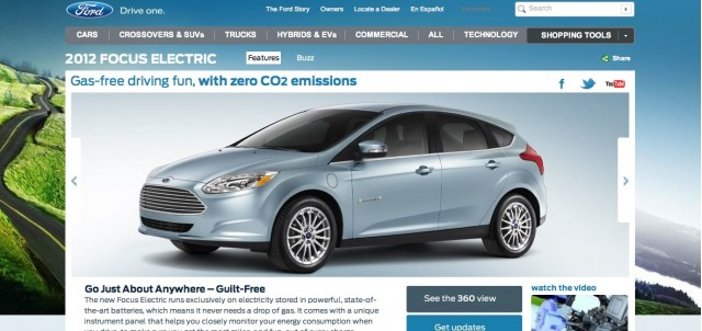 2012 Ford Focus Electric Microsite