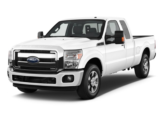 """2012 Ford Super Duty F-250 2WD SuperCab 142"""" Lariat Angular Front Exterior View"""