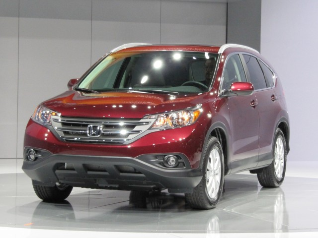 2012 Honda CR-V live reveal at Los Angeles Auto Show, Nov 2011