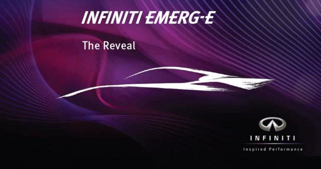 2012 Infiniti Emerg-E Concept teaser