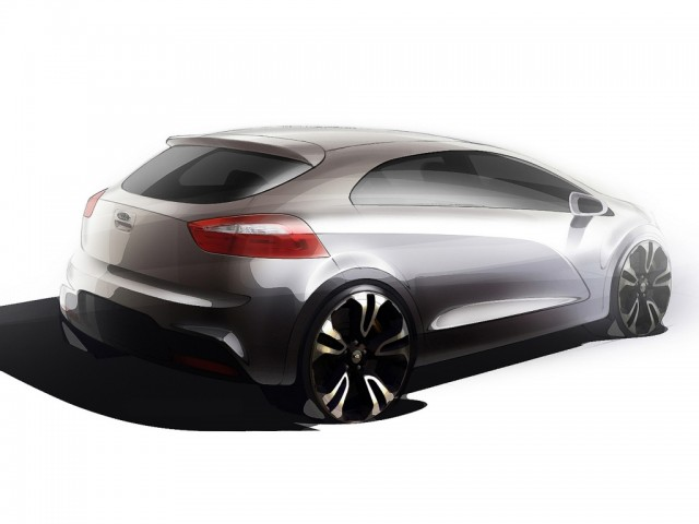 2012 Kia Rio official teaser sketch