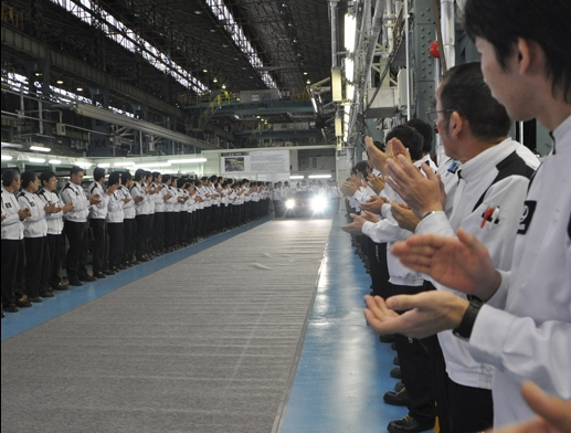 First production 2012 Lexus LFA rolls off the line