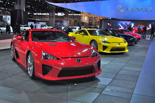 Lexus LFAs at Chicago Auto Show