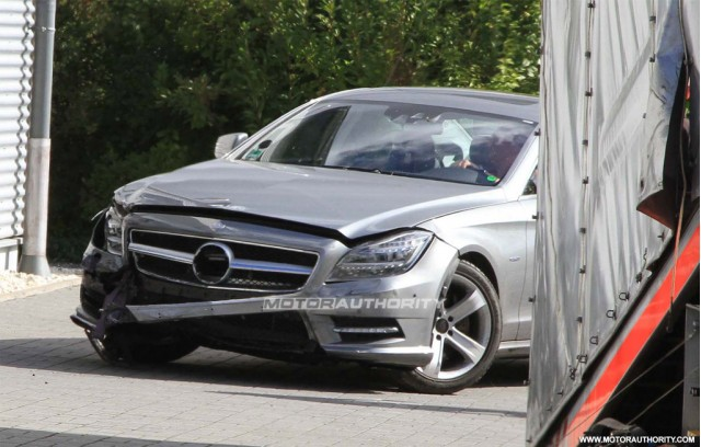 2012 Mercedes-Benz CLS first crash