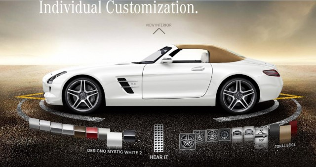 2012 mercedes benz sls amg roadster online configurator goes live. Black Bedroom Furniture Sets. Home Design Ideas