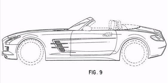 2012 Mercedes-Benz SLS AMG Roadster patent drawings