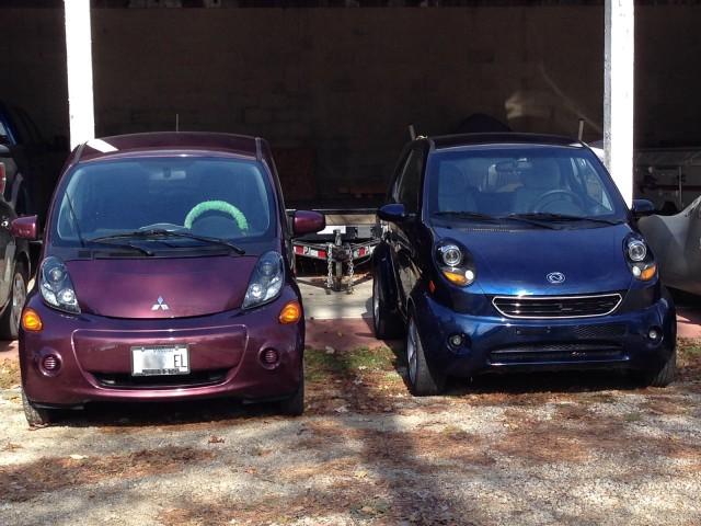 2012 Mitsubishi i-MiEV, 2013 Wheego LiFe electric cars  [photo: Jen Danzinger]